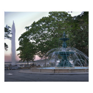 Jato D'Eau e Jardin Anglais Impressão De Foto