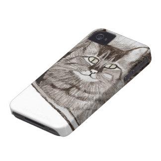 Jaz na janela - caixa de Blackberry do gato iPhone 4 Capa