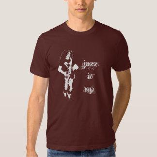 Jazz ele acima da camisa do jogador de saxofone T Tshirt