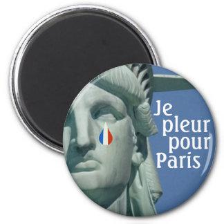 Je Pleur derrama o ímã de Paris Ímã Redondo 5.08cm