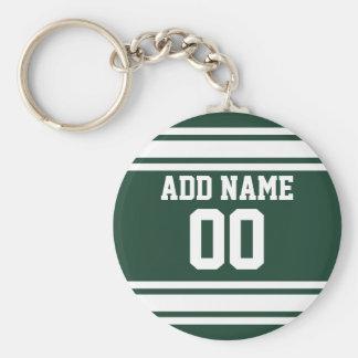 Jérsei de equipe com nome e número feitos sob enco chaveiro