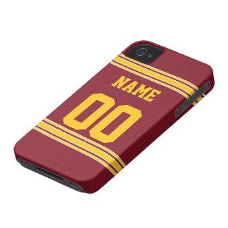 Jérsei do futebol com a área a personalizar capa para iPhone 4 Case-Mate