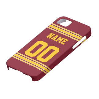 Jérsei do futebol com a área a personalizar capa para iPhone 5