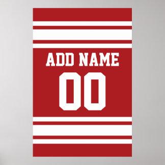 Jérsei dos esportes com seus nome e número pôster