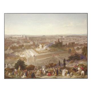 Jerusalem em sua grandiosidade, gravada por