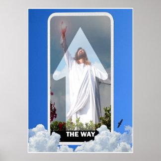 Jesus a maneira a verdade e a arte do poster da