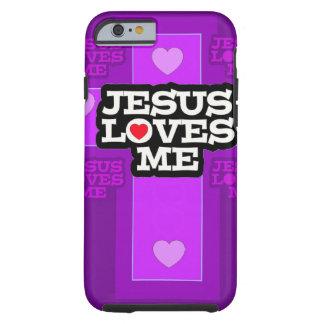 Jesus ama-me capa tough para iPhone 6