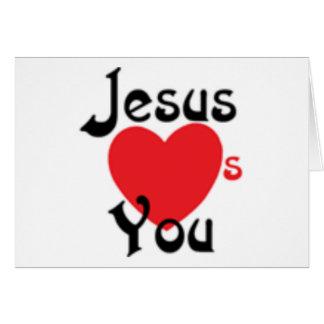Jesus ama-o cartões