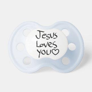 Jesus ama-o chupeta de bebê