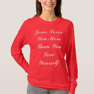 Jesus ama-o mais t-shirt