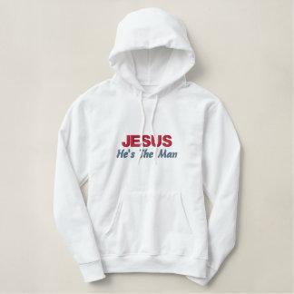 JESUS bordou a camisa Moletom Com Capuz Pulôver Bordado Feminino