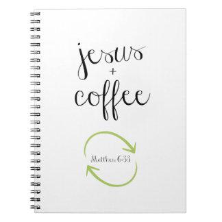 Jesus e de caderno/jornal do café 6:33 de Matthew Cadernos Espirais
