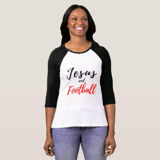 Jesus e T das mulheres do futebol T-shirt