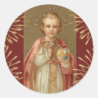 Jesus infantil de Praga Adesivo