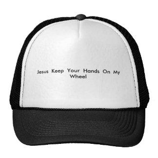 Jesus mantem suas mãos em minha roda boné
