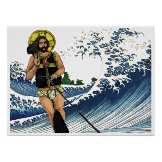 Jesus na água (esportes) pôster