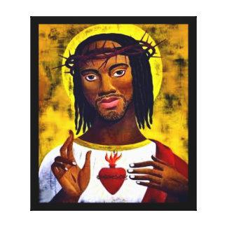 Jesus preto impressão em tela