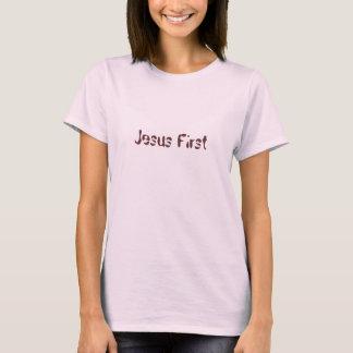 Jesus primeiramente camiseta
