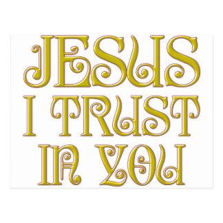 Jesus que eu confio em você cartão postal
