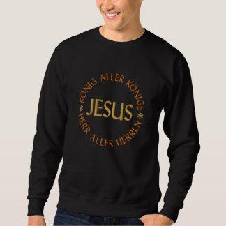 Jesus, rei todos reis DE SENHOR de todos Suéter Bordado