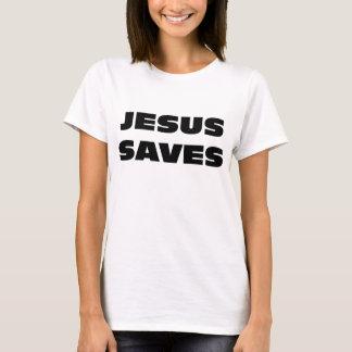 Jesus salvar camisetas