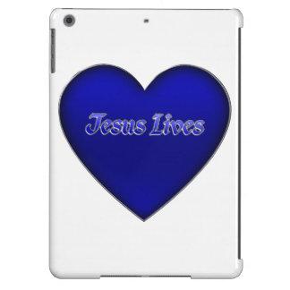 Jesus vive caixa cristã do ar do iPad do coração Capa Para iPad Air