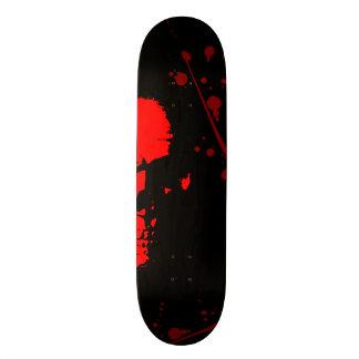 JK16 ROUPA - crânio vermelho Shape De Skate 20,6cm