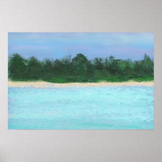 ©jlp da paisagem da ilha pôsteres
