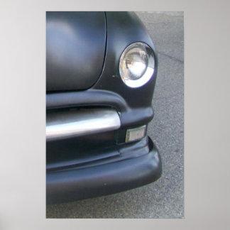 ©jlp do carro vintage pôster