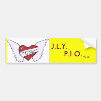 jlypio_wings, AMOR MISTY1982-1997, J.L.Y., P.I.O. Adesivo Para Carro