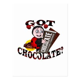 """Joaninha de Chocoholic - """"obteve o chocolate?"""" Cartão Postal"""