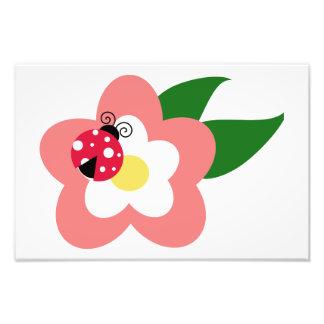 Joaninha em um clipart da flor impressão de fotos