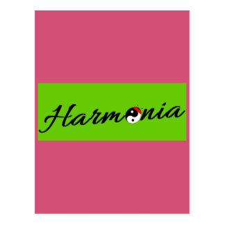 Joaninha Harmonia zen Cartão Postal