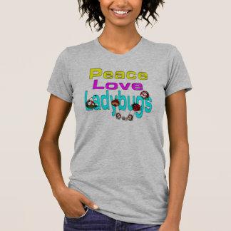 Joaninhas do amor da paz t-shirt
