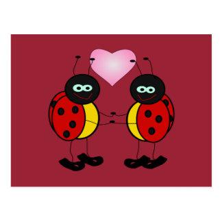 Joaninhas no cartão do amor