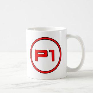 Jogador 1 caneca de café