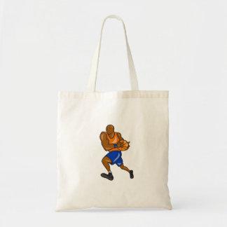 Jogador de basquetebol que guardara desenhos bolsas de lona