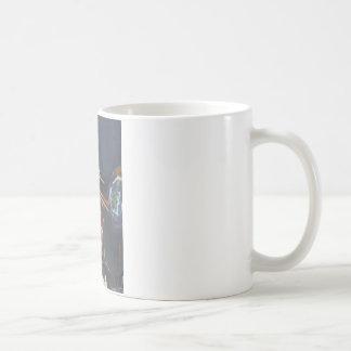 jogador de chifre caneca de café