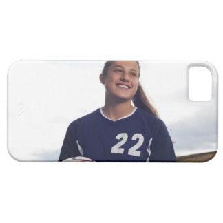 jogador de futebol adolescente da menina que capa barely there para iPhone 5