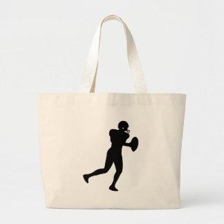 Jogador de futebol americano sacola tote jumbo