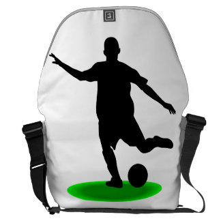 Jogador de futebol bolsas mensageiro