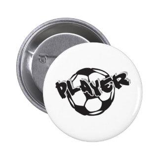 Jogador de futebol botons