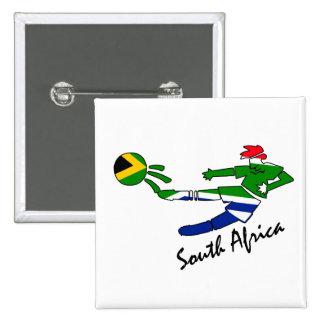 Jogador de futebol de África do Sul Bóton Quadrado 5.08cm