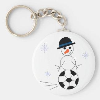 Jogador de futebol do boneco de neve chaveiros