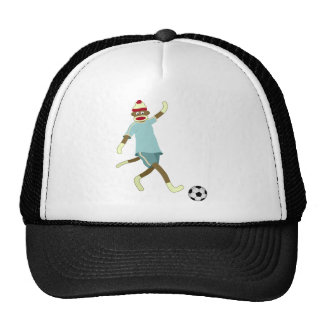 Jogador de futebol do macaco da peúga boné