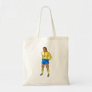 Jogador de futebol dos desenhos animados bolsas