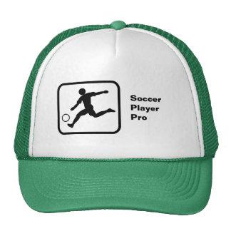 Jogador de futebol pro bonés