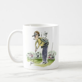 Jogador de golfe do dispositivo caneca de café