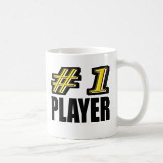 Jogador do número 1 caneca de café