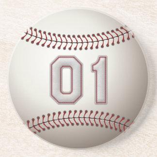 Jogador número 01 - pontos legal do basebol porta copos de arenito